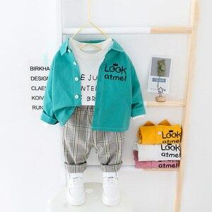 Image 2 - 子供服 2020 春の幼児の男の子服シャツパンツ 2 本の衣装スーツ子供服衣装セット