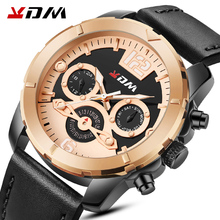 2020 KDM Mens Watches Top Brand Luxury Casual Leather Quartz Clock Male Sport Waterproof Watch Gold Watch Men Relogio Masculino dom men watches top brand luxury quartz watch casual quartz watch black leather mesh strap ultra thin fashion clock male relojes