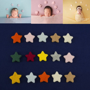 5pcs/set Newborn Photography Props Photo Props Baby Handmade Wool Stars Doll Photography Studio Accessories