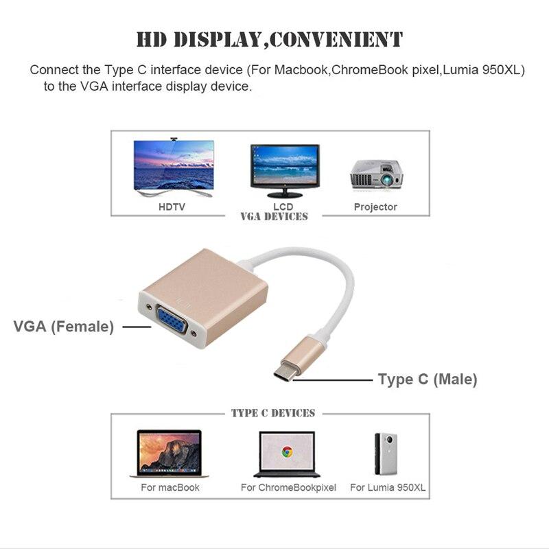 Image 5 - Trumsoon Type C to 4K HDMI VGA 3.5 Audio Adapter Type C PD Charging USB3.0 Hub for MacBook Samsung S8 Huawei P20 Xiaomi 9