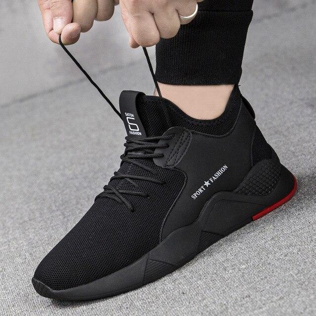 Hommes chaussures baskets plat homme chaussures décontractées confortable chaussures pour hommes respirant maille Sport chaussures Tzapatos De Hombre grande taille