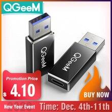 QGeeM USB 3.1 Type C Vrouwelijke om USB 3.0 Mannelijke Poort Adapter 10 Gbps Type Een Connector Data Sync Adapter Connector voor Macbook Google