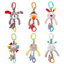Baby Toys Cute Animal Rattles Stroller Hanging Bell Crib Mob