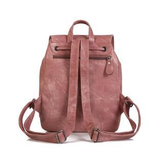 Image 3 - Da Vintage Bagpack Nữ Lưng Cao Cấp Đa Chức Năng Túi Đeo Vai Nữ Bé Gái Ba Lô Retro Schoolbag XA533H