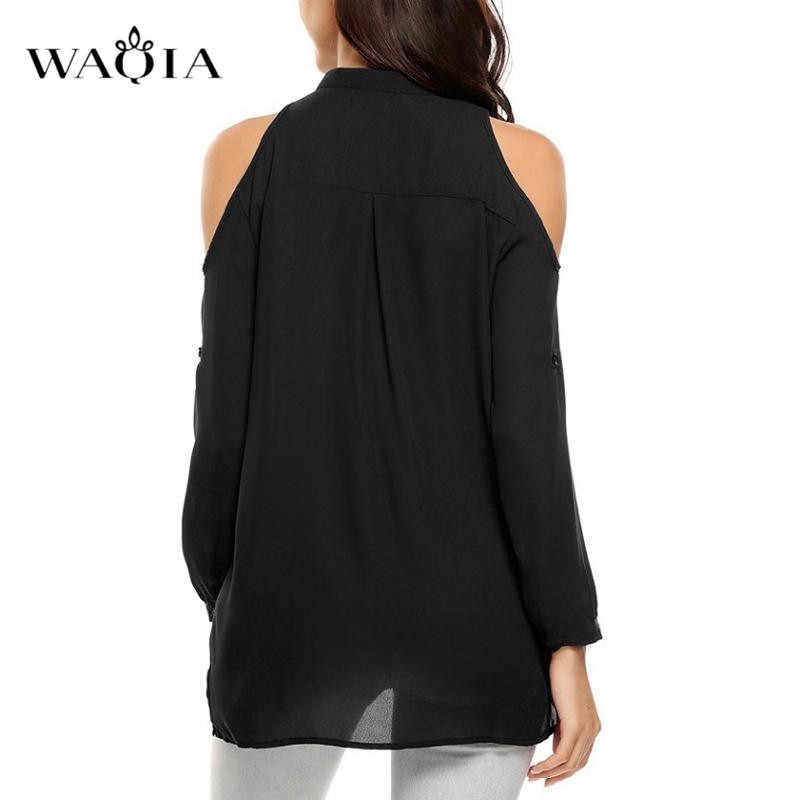 בתוספת גודל 8XL חולצות אישה 2019 כבוי כתף למעלה קיץ נשים צמרות חולצה ארוך שרוול שיפון חולצות נקבה V-צוואר חולצות