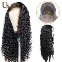13x4 Lace Front Human Hair Wigs Pre Plucked For Women Brazilian Water Wave With Baby Hair Remy Hair Wig(China)