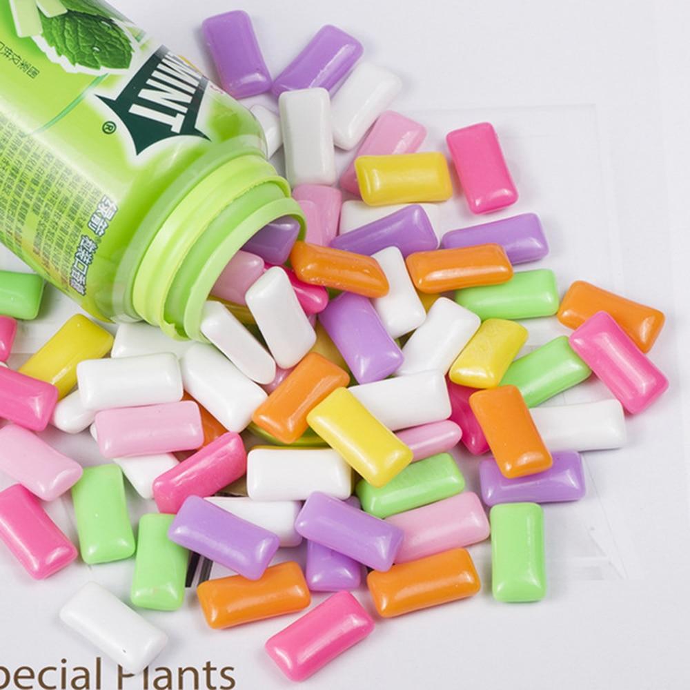 Купить с кэшбэком 10 Pcs/lot Candy Chewing Gum Filler for Clear/Fluffy Mud Box Toys Kids Lizun Slime DIY Kit Accessories Children Modeling Clay