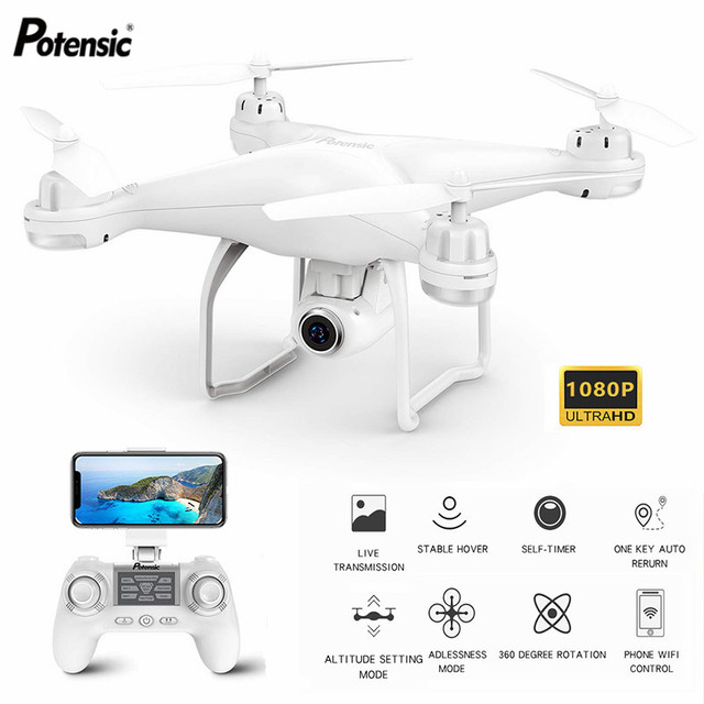 Potensic T25 RC Quadcopter Drone WIFI FPV With Wide Angle HD 1080P Camera Hight Hold Mode RC Helicopters Drone For toys