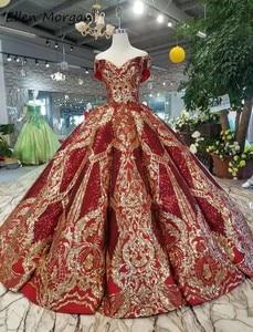 Image 2 - Off כתף בורגונדי כדור שמלות Quinceanera שמלות 2020 נדל תמונות נפוח מחוך נצנצים אירוע נשף מסיבת עבור מתוק 15 16 בנות