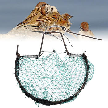 Birds Catching Hunting Tools Sparrow Pigeon Starling Birds Net Mesh Trap Foldable Humane Live Trapping Capture Nets 20cm 1