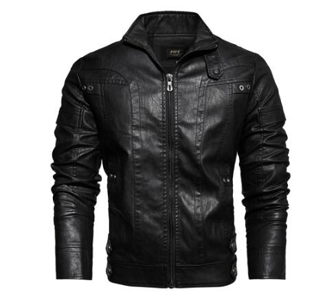 Leather Jacket Male-cafe Racer Senior Leather Distressed Motorcycle Jacket