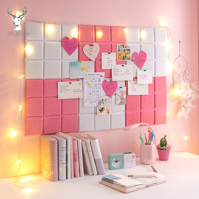 2pcs/set Color Felt Letter Board Message Board Home Office Decor Board Photo Display Board Wall Decoration Business Card Display