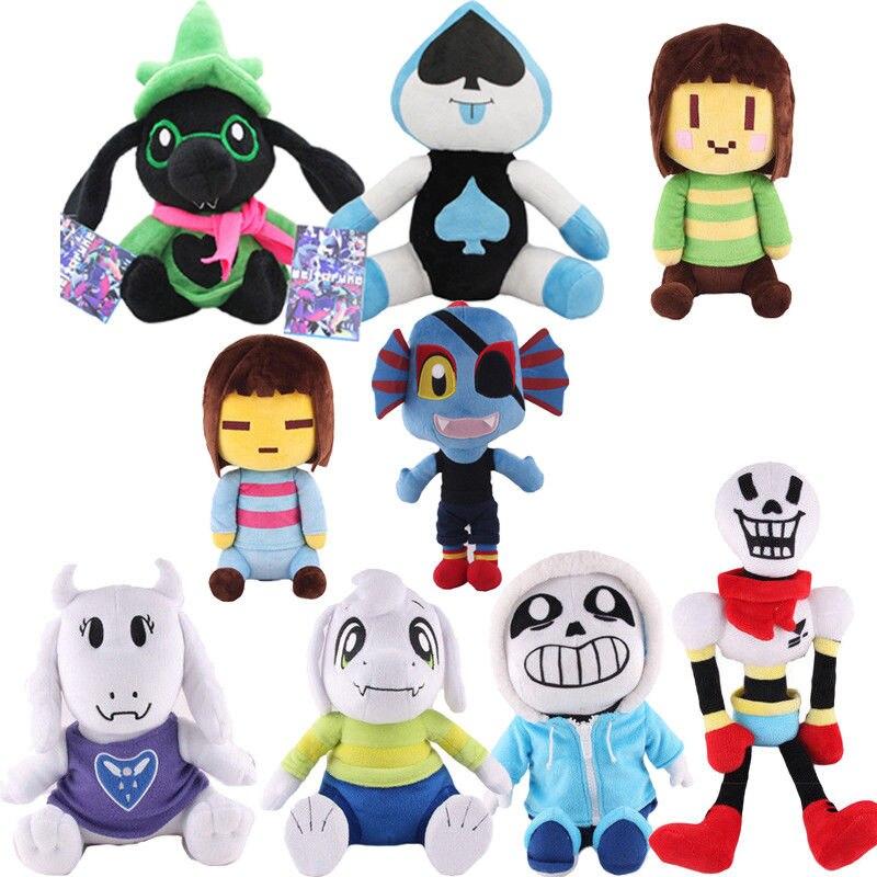 Deltarune Undertale 2 Frisk Chara Sans Asriel Happstablook Temmie Undyne Lancer Ralsei Stuffed Doll Plush Toy Kids Gifts(China)