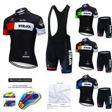 STRAVA Cycling Clothing Men Cycling Set Bike Clothing Breathable Anti-UV Bicycle Wear/Short Sleeve Cycling Jersey Sets 2021