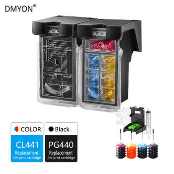 DMYON Refillable Ink Cartridge Replacement for Canon PG440 CL441 for PIXMA MG3640 MX374 MX394 MX434 MX454 MX474 MX514 MX524 - Category 🛒 Computer & Office