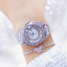 Reloj Mujer Sliver Women Watch Bling Diamond Ladies Wrist Watch Quartz Stainless Steel Female Clock Waterproof Watch For Girl цена и фото