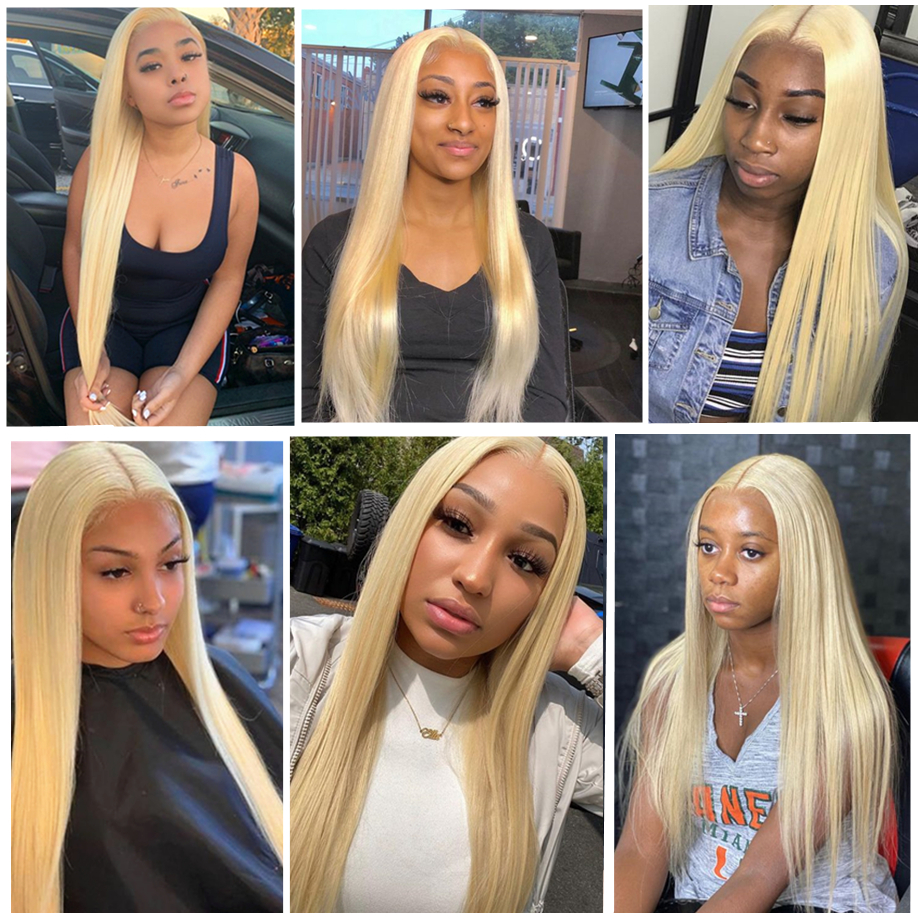 613 Lace Frontal Wig Honey Blonde Lace Front Wigs   Wigs T Part Lace Bone Straight  Wig 5