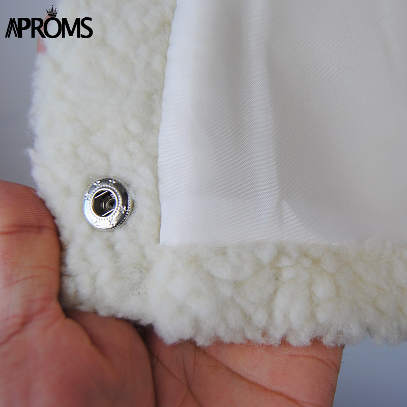 Hot Deals_Aproms Short Jacket Slim-Crop-Top Streetwear Long-Sleeve Black Winter Fashion Coats Girls