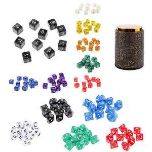 10pcsset D6 D10 Game Board Game Dice Party Gambling Dices Game Digital Colorful Multi Sides Polyhedral Dices