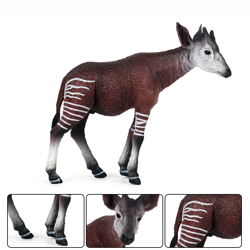Okapi Animal Figure Collectible Toys Wild Animal Cognition Action Figures Kids Plastic Model Toys