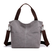 купить 2019 Casual Women Floral Large Capacity Tote Canvas Shoulder Bag Shopping Bag Beach Bags Casual Tote Feminina дешево