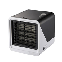 Black Small Air Conditioning Appliances USB Arctic Air Cooler Mini Fan Air Cooling Fan Summer Portable Air Conditioning|Fans|   -