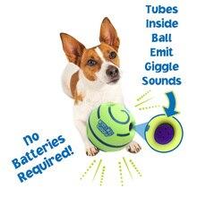 Som engraçado pet cães jogando bola wobble wag giggle mascar bola filhote de cachorro treinamento bola com som engraçado presente brinquedo para animais de estimação suprimentos