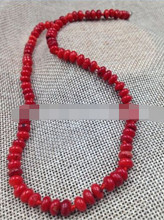 + + + 906 6 Mm Buatan Tangan Fashion Perhiasan Alami Red Coral Bentuk Piring Manik-manik Pesona Kalung(China)