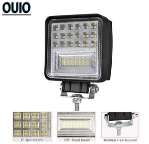 Image 2 - 12V 24V LED Work Licht 4x4 Auto Zubehör Fahr Licht Bars Offroad Scheinwerfer Spot Flut combo Beam Fog Licht Lkw Boot Lampe