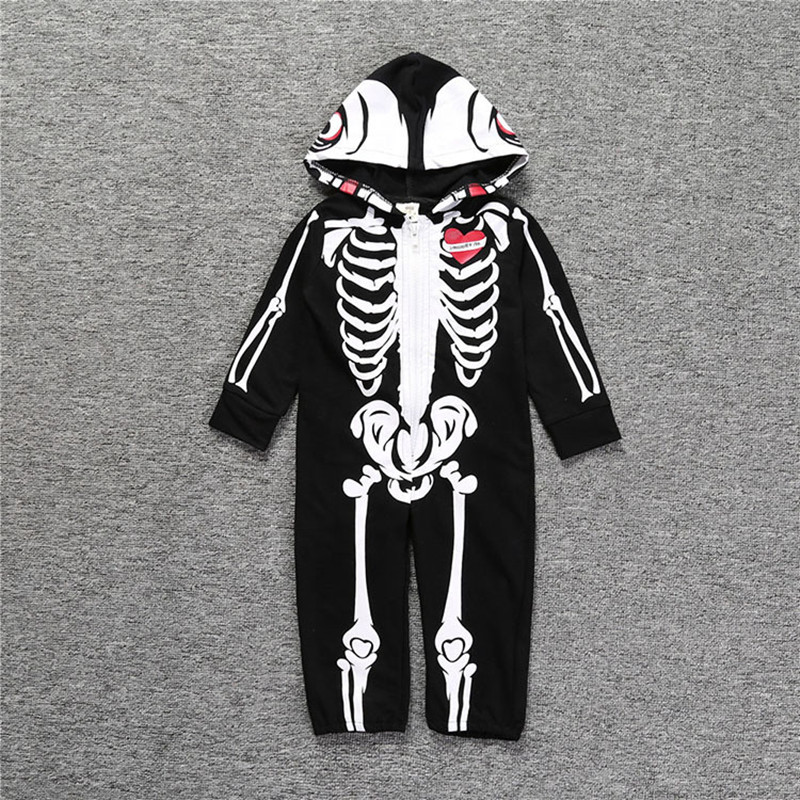 Baby Halloween Costumes | Halloween Costumes Long Sleeve Jumpsuit Sexy Skeleton Costume  Halloween Hooded Baby Romper Horror Zombie Costum