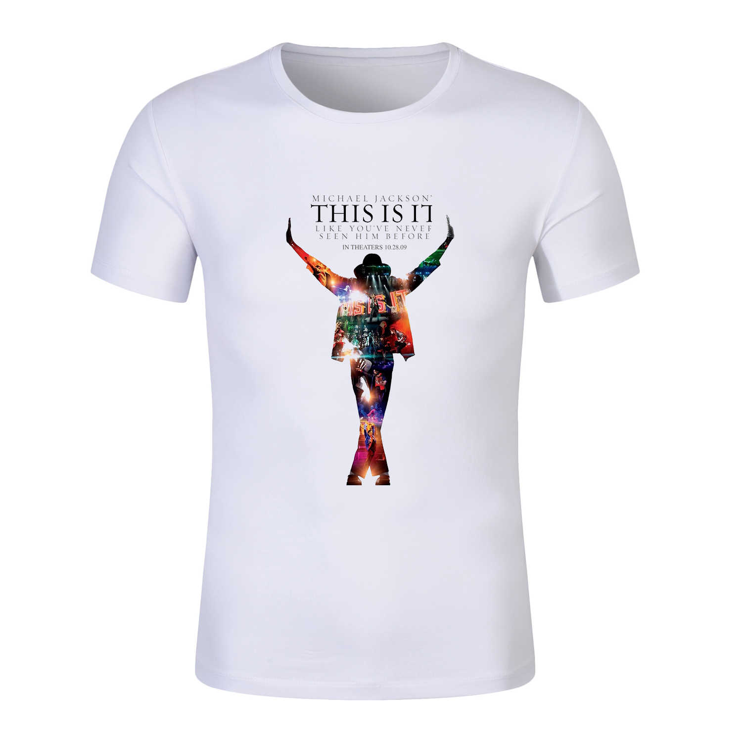Michael Jackson Tshirt THIS IS IT Print T-shirt Unisex T Shirt Modal casual Men And Women tshirt Death 10th Anniversary Tees top