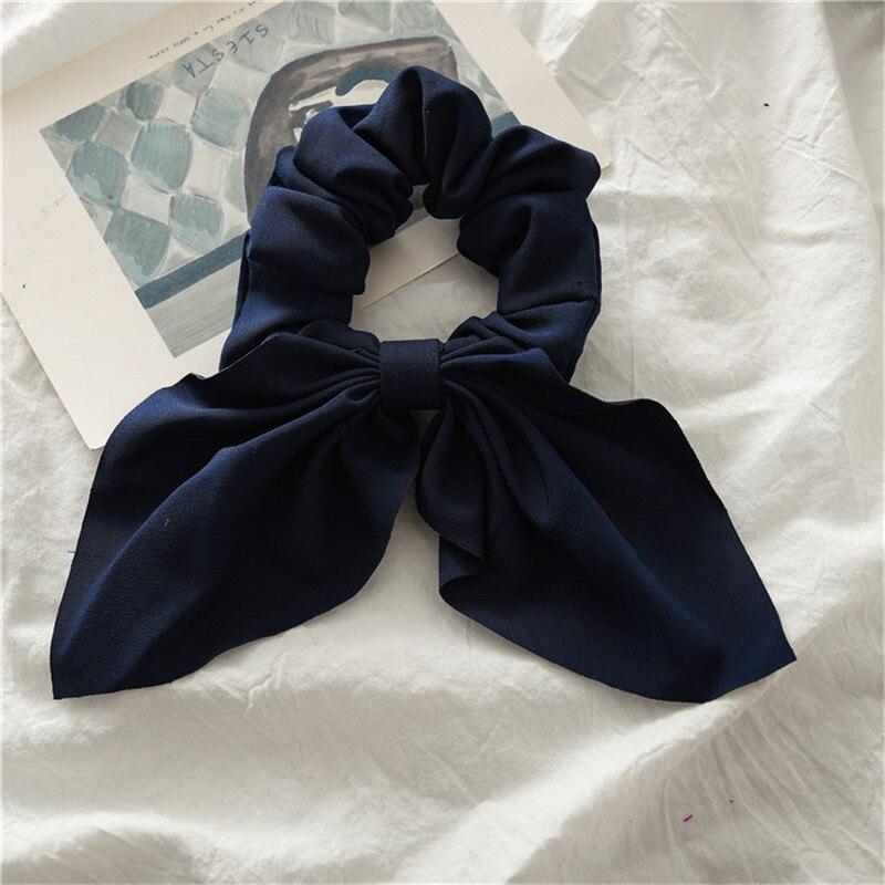 ลูกอมสีผู้หญิง Scrunchie ผม Bows ผู้ถือผมหางม้า Hairband Bow Knot Scrunchy Girls Hair Ties อุปกรณ์เสริมผม