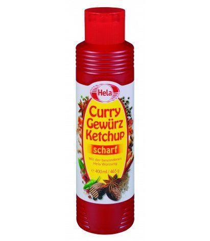 Kétchup Curry Picante Hela 400 Ml