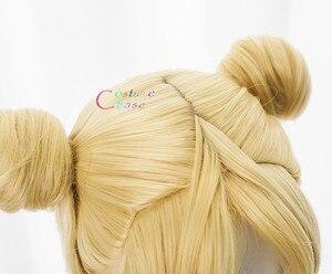 Image 5 - Tsukino Usagi Wig 90cm Long Wavy Sailor Moon Cosplay Costumes Party Halloween Synthetic Hair +Free Wig Cap