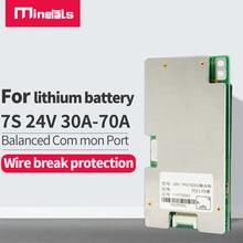 Bms 7s 24v li ion 30A 40A 50A 60A 70A lityum pil koruma levhası BMS elektrikli şarj Lipo NiCoMn iyon hücreleri ile denge