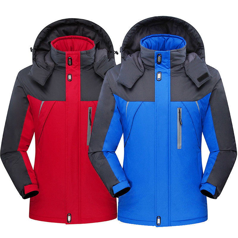Ski Jacket Men Winter Outdoor Sports Hiking Windproof Waterproof Fleece Jackets Male Plus Size Warm Skiing Snowboarding Jackets