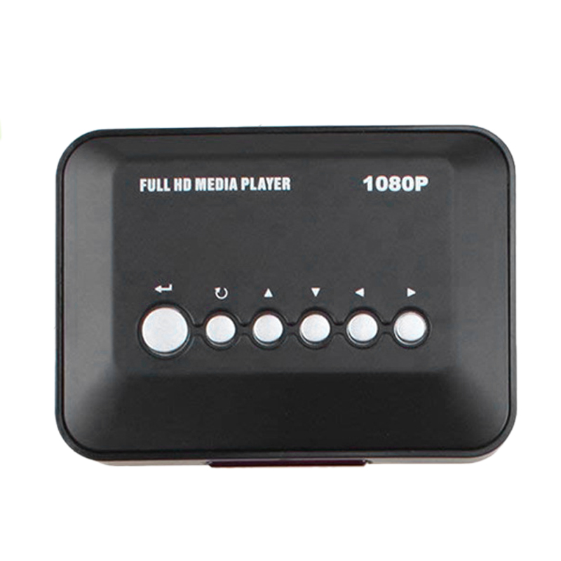 HD Video Advertising Player Player 1080P HDMI HD Interface External U Disk SD Card Mobile Hard Disk (EU Plug)
