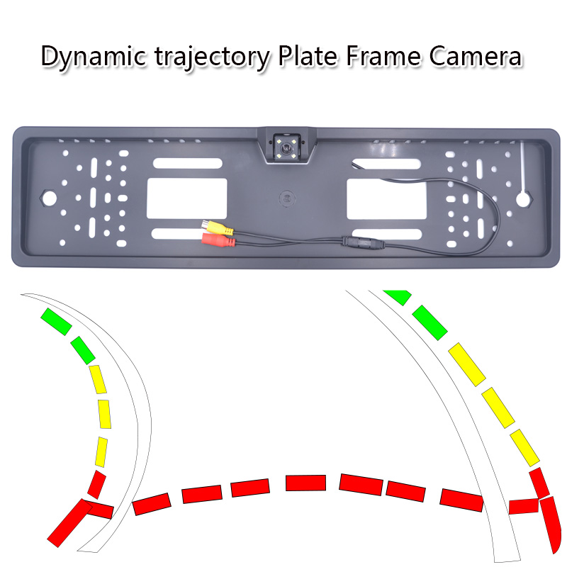 HD High Quality Dynamic Trajectory Plate Frame Car Rear View Camera With Good Night Vision