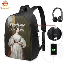 Marie Curie Backpack Marie Curie Backpacks Man - Woman Trend Bag Print Student Multi Pocket Sports Bags цена 2017