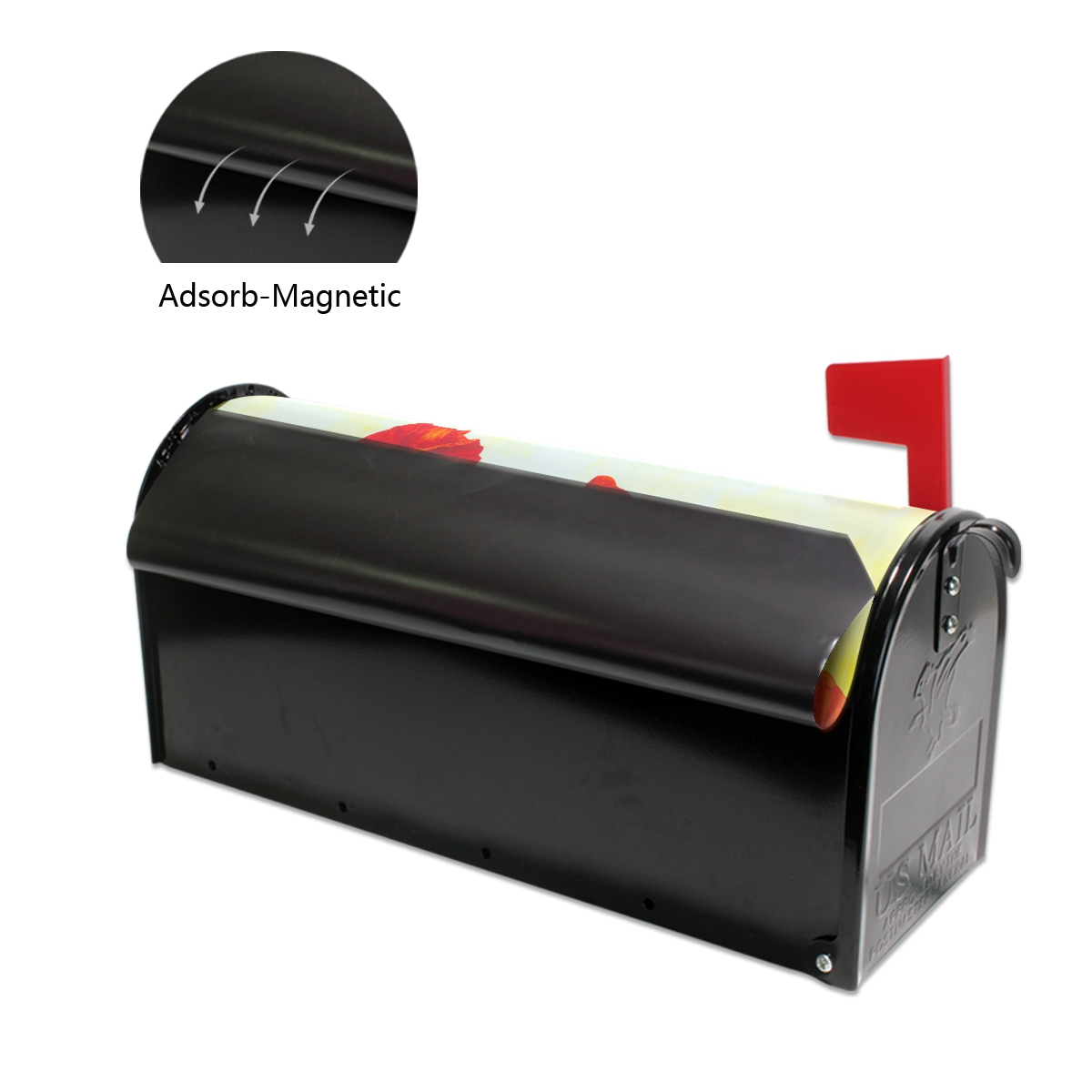 Художественная Обложка для почтового ящика с красными цветами мака Весенняя картина с лужайкой Чехлы для почтовых ящиков магнитные почтовые обертки почтовая коробка большой размер