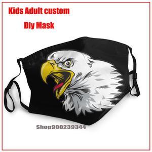 Красивые маски с изображением головы орла и фильтром, детские, мужские, женские, детские маски для лица, Тканевые Маски для детей