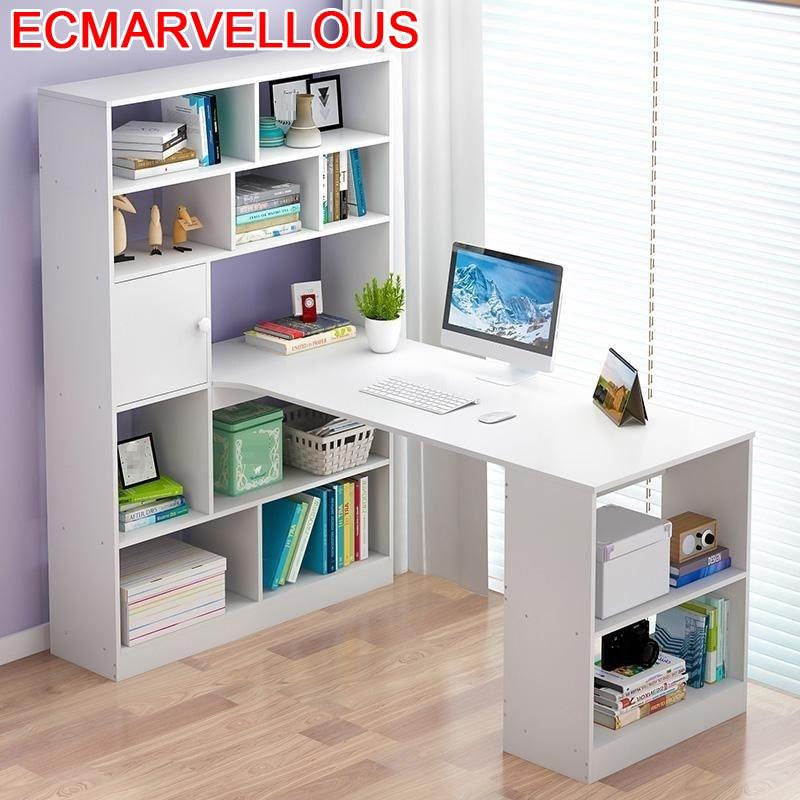 Bureau Meuble Portatil Bed Tafel Notebook Mesa Escritorio Office Pliante Tablo Bedside Laptop Stand Computer Table With Bookcase