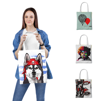 Canvas Tote Bag Casual Beach HandBag Eco Shopping Bag Daily Use Foldable Shoulder Bag Canvas Tote For Women Shopper Bags zip closure canvas tote bag