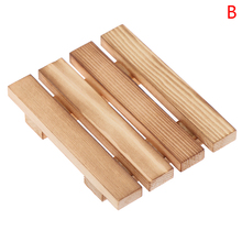 Natural Wood Wooden Soap Dish Storage Tray Holder Bath Shower Plate Support Tray Shower Plate Wash Soap Bath 9*7*1.5cm