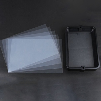 Material Rack Black 178x120Mm with 5Pcs FEP Film for DLP SLA Wanhao D7 3D Printer Anodized Aluminium Resin Vat Steel Ring