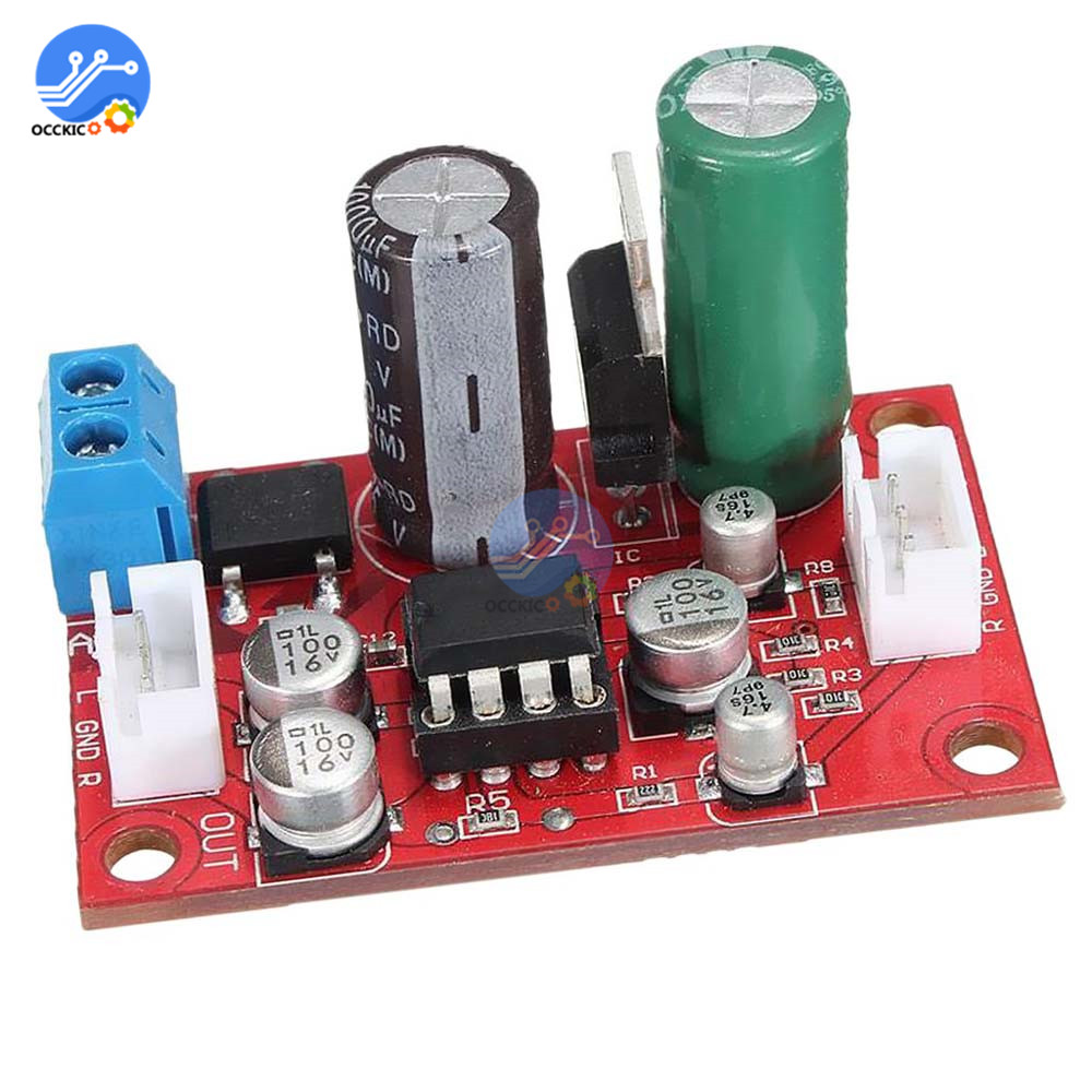 NE5532 Karaoke Board Microphone Amplifier Board DC 9-24V AC 8-16V Microfone Preamplifier Reverberation Echo Audio Module Kit