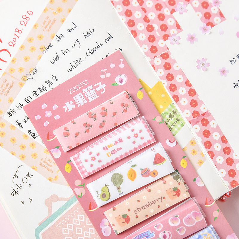 Snack Shop Series Sticky Notes Memo Pad Bookmark Diary Stationary Scrapbook Decorative Cute Fruit Cake Bread N Times Sticky