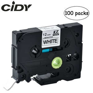 Image 1 - 100 Uds p touch tz231 tze231 12mm en blanco y negro de la cinta de etiqueta tze 231 tz 231 para impresora hermano tze131 431, 531, 631, 731
