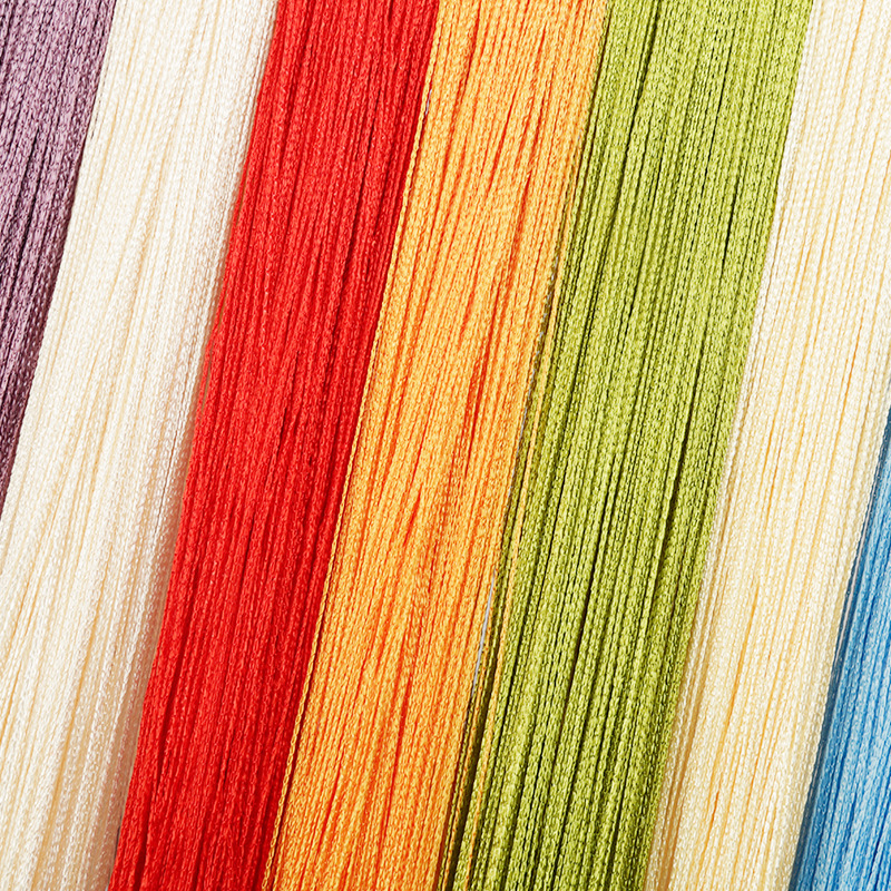 Optional 100CM X 200CM Multi-color  Thread Line Curtains For Living Room Door Wall Window Panel Tassel Curtains