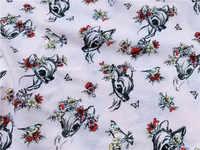 50*175cm de punto de algodón de dibujos animados de ciervo Material para costura de tela Patchwork costura DIY hecho a mano de tela vestido de ropa de cama